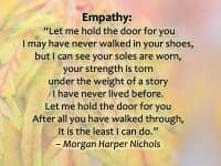 If We Only Knew Other People's Backstories = Empathy & Understanding